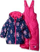 Pink Platinum Toddler Girls' Floral Print Snowsuit