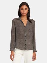 L'Agence Nina Long Sleeve Silk Blouse