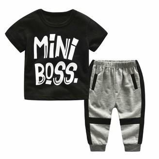 SSMENG 2PCS Baby Boy Outfits Set