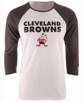 Nike Men's Cleveland Browns Historic Tri Raglan T-Shirt