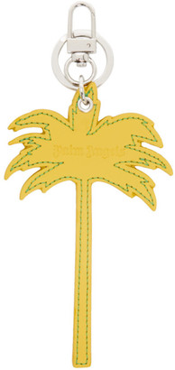 Palm Angels Yellow Palm Tree Keychain