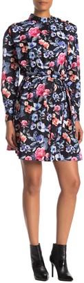 Rebecca Minkoff Trudy Floral Mock Neck Dress