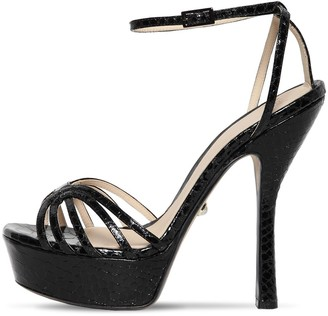 ALEVÌ Milano 130mm Snake Embossed Leather Sandals