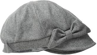 San Diego Hat Company SDH3404 Wool Cap with Self Fabric Bow (Grey) Caps