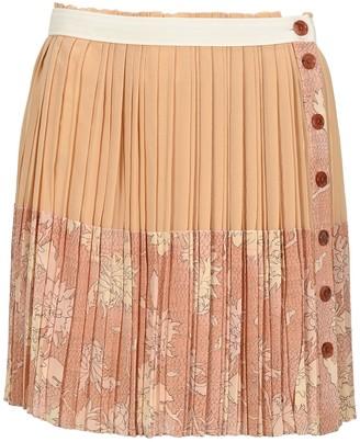 Chloé Colour Block Pleated Wrap Skirt