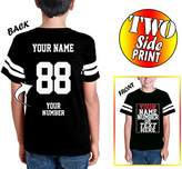Tee Miracle Custom Cotton Jerseys For Youth and Teens - Make Your Own Jersey T Shirts - Personalized Team Uniforms For Casual Outfit
