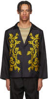 SASQUATCHfabrix. Black Silk Skipper Shirt