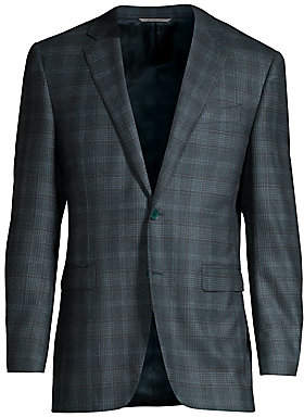 Canali Men's Modern-Fit Checker Wool & Cashmere Jacket