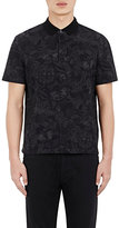 Valentino Men's Camubutterfly Polo Shirt-BLACK
