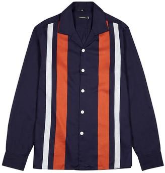 J. Lindeberg Navy bold striped shirt