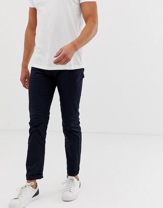Armani Exchange J13 slim fit gaberdine pants in navy