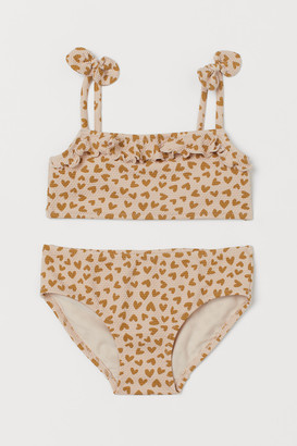 H&M Patterned Flounced Bikini
