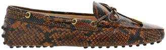 Tod's Loafers Loafers In Genuine Python-print Leather With Classic Laces