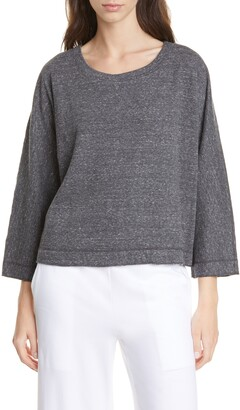 Eileen Fisher Ballet Neck Organic Cotton Top