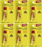 Carmex Lip Balm Tubes, Original Formula, 0.35 oz., Pack of 6