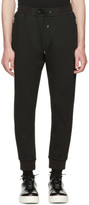 McQ Black Mix Zip Lounge Pants