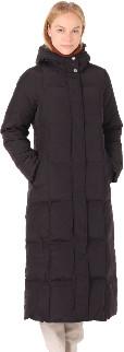 Spoom - Werra Long Black Quilted Down Puffer Coat - black | nylon | 34 - Black/Black