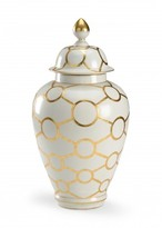 The Well Appointed House Hand Decorated White Porcelain Ring Vase with Gold Detail - CURRENTLY ON BACKORDER