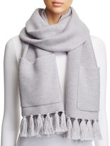 Eileen Fisher Fringe-Trim Pocket Scarf