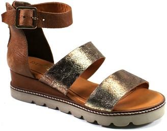 Diba True Wedge Leather Sandals - Lady Like