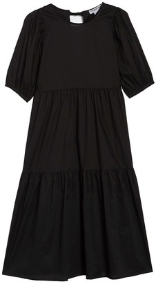 Cotton Emporium Tiered Poplin Maxi Dress