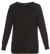 Saint Laurent Distressed cashmere sweater