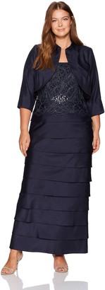 Jessica Howard Women's Size Bolero Jacket Dress with Beaded Waist