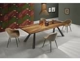 Ash Zeus MT Dining Table with Wood Top Midj Color: Solid