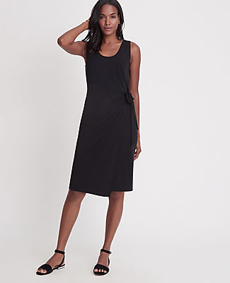 Ann Taylor Matte Jersey Side Tie Sheath Dress