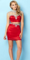 Mac Duggal Two Piece Scarlet Embellished Homecoming Dress