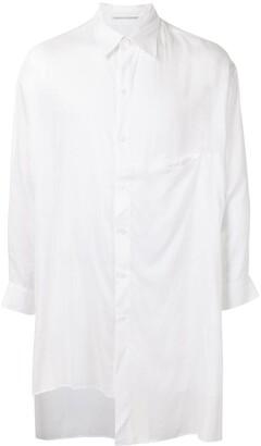Yohji Yamamoto Semi-Sheer Asymmetric Shirt