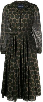 Samantha Sung Belted Polka Dot Pattern Dress