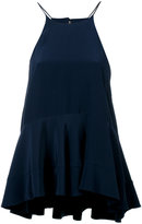 Polo Ralph Lauren flared top - women - Silk/Polyester - 4