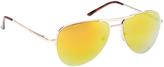 Steve Madden Goldtone Tortoise-Accent Aviator Sunglasses