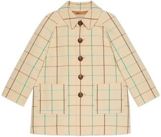 Gucci Children's check wool coat