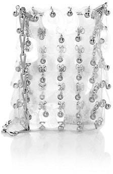 Paco Rabanne Mini 1969 Sparkle Transparent Crossbody Bag
