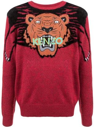 Kenzo Intarsia Tiger Sweater