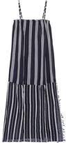 Lemlem Edna Striped Cotton-gauze Maxi Dress - Navy