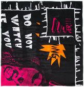McQ by Alexander McQueen print scarf