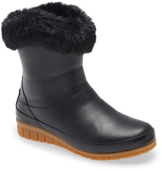 Joules Chilton Waterproof Bootie with Faux Fur Collar