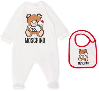 Moschino Kids snowman teddy bear pajamas