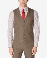 Perry Ellis Men's Subtle Plaid Twill Vest Suit Separate