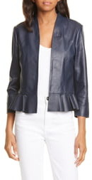 Ted Baker Febbe Peplum Leather Jacket