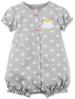 Carter's Clouds Cotton Romper, Baby Girls