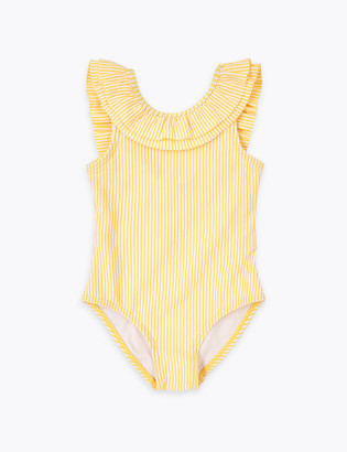 Marks and Spencer Striped Seersucker Swimsuit (2-7 Yrs)
