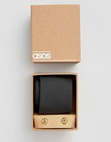 Asos Tie In Black And Cufflink Pack