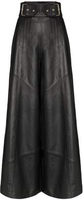 Skiim Johnny wide-leg leather trousers
