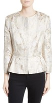 Helene Berman Women's Jacquard Peplum Jacket