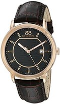 88 Rue du Rhone Men's 87WA130013 Double 8 Analog Display Swiss Quartz Brown Watch