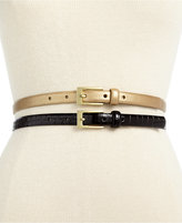 Style&Co. 2 for 1 Croco Patent Belt